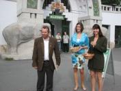A díjazottak az állatkert előtt népszerűsítették az ökoturizmust